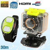 Yonis - Mini caméra sport télécommandé caisson waterproof 30m Full Hd 1080P