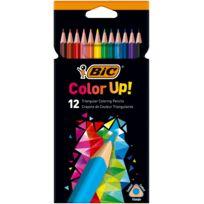 Lot de 12 Crayons de couleur Color Up Triangluaires