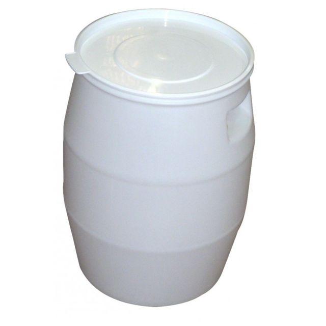 Gilac FÛT 50 litres et Couvercle Languette Blanc