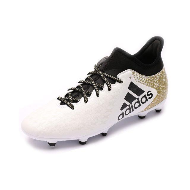 uk availability 4303d e28fd Adidas - Chaussures X 16.3 FG Blanc Football Homme Multicouleur.