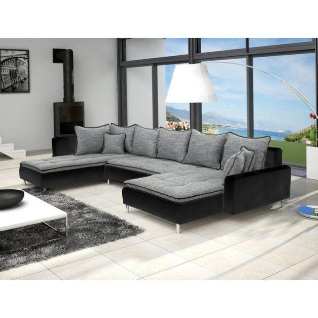 meublesline canap panoramique dante 6 places tissu et. Black Bedroom Furniture Sets. Home Design Ideas