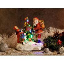 No Name - Décoration de Noël - Père Noël musical illuminé avec Led Rgb - Intérieur