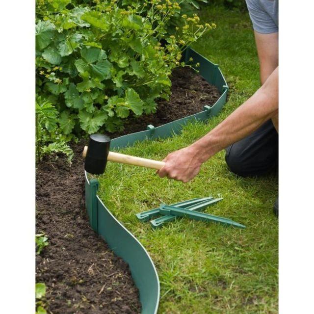 TUTEUR - TOPIERE - LIEN - FIL - ATTACHE Sachet de 10 ancres pour bordure de jardin en polypropylene - H 26,7 x 1,9 x 1,8