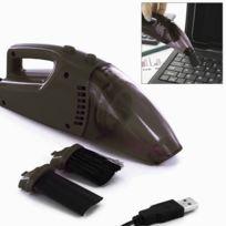 Touslescadeaux - Aspirateur Usb - pour nettoyer clavier de pc, ordinateur, écran - Noir