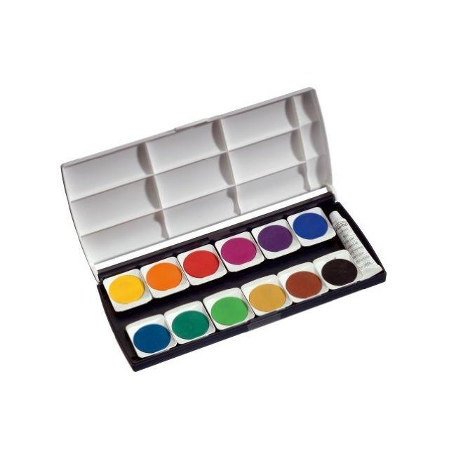 Herlitz 10116655 Boîte De Peinture 12 Couleurs Avec Tube