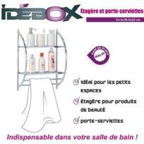 Idébox - Etagère porte serviette métal Glo6254