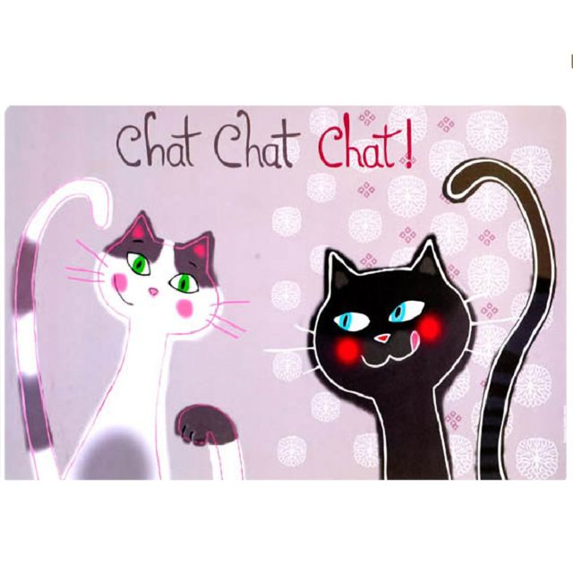 Foxtrot Un set de table Couple de Chats