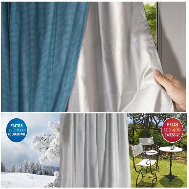 idmarket  rideau thermique isolant anti froid pour