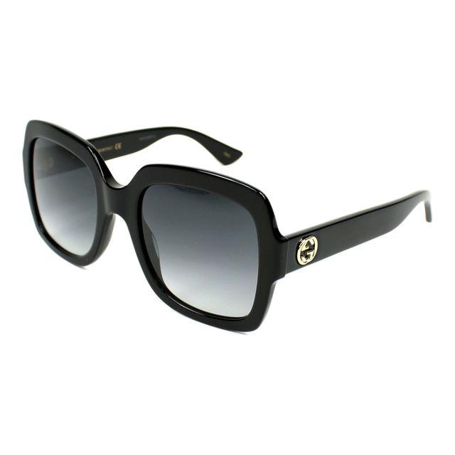 Gucci - Lunettes de solei Gg-0036-S 001 Femme Noir - pas cher Achat   Vente  Lunettes Tendance - RueDuCommerce 5d4f14e28188