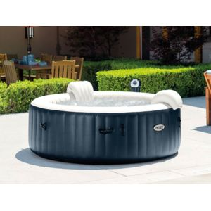 intex spa gonflable purespa rond bulles 6 places bleu nuit pas cher achat vente spa. Black Bedroom Furniture Sets. Home Design Ideas