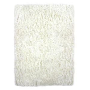 Alinéa - Bundchen Tapis imitation fourrure 100x150cm blanc - pas ...