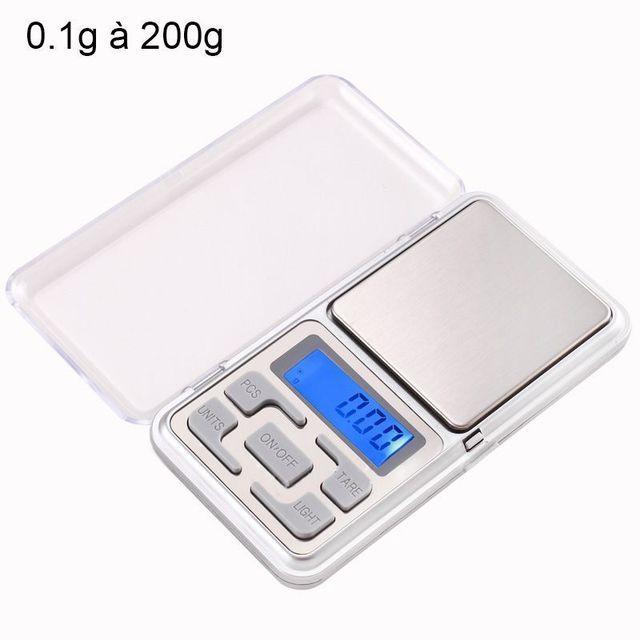 Yonis Mini balance digitale très haute précision de poche 0.1g à 200g