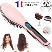 No Brand - Les Gaulois® Brosse à lisser les cheveux electrique Lcd - Electric brush straightener