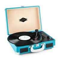AUNA - Peggy Sue platine viynle rétro LP USB -bleu