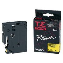 Brother - Cassette Tze-211 - 6 mm - noir / blanc