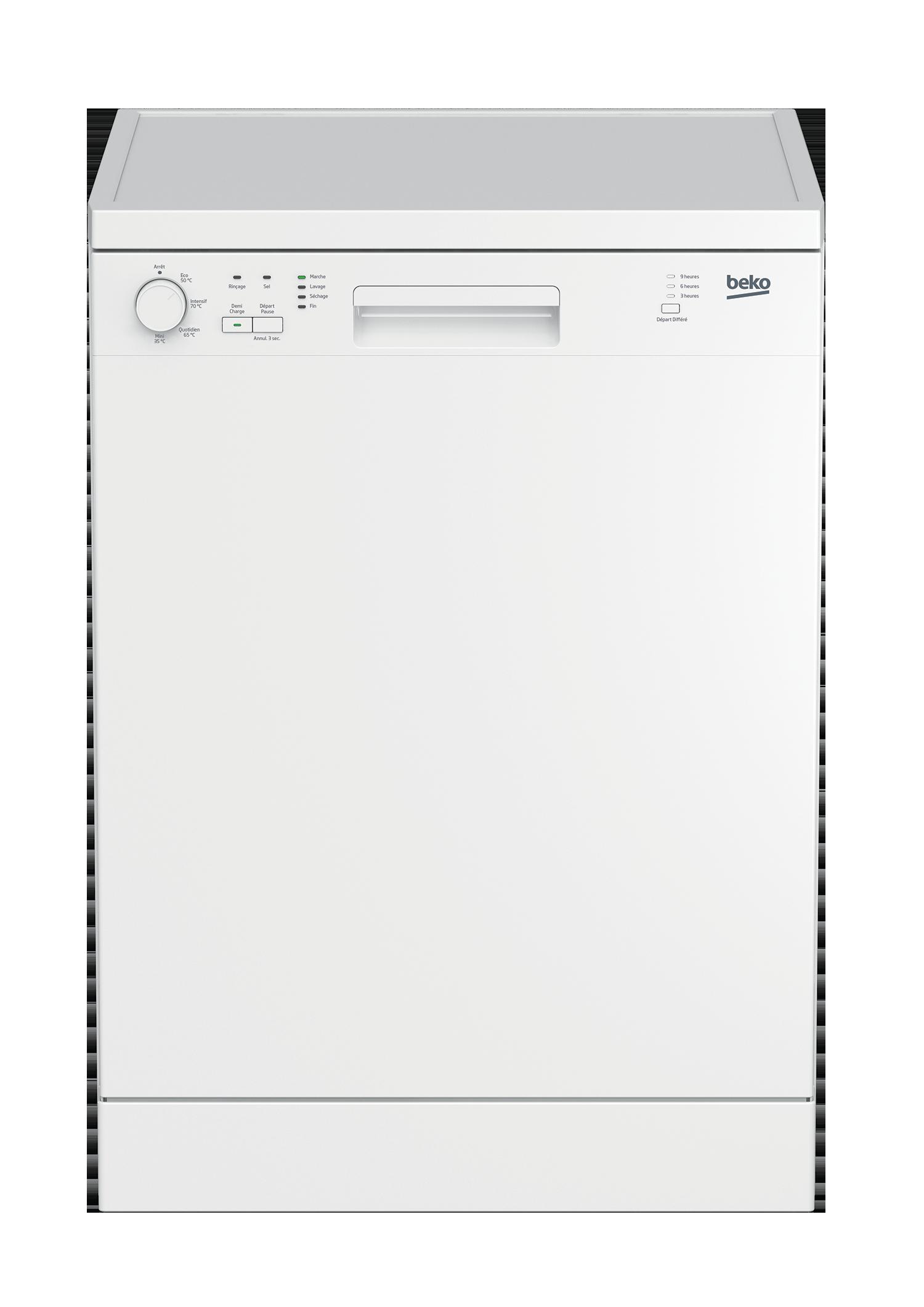 BEKO Lave-vaisselle - LVP63W2 - Blanc