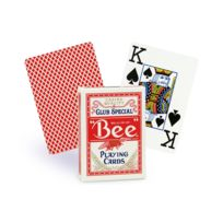 Bee - Cartes poker jumbo rouge