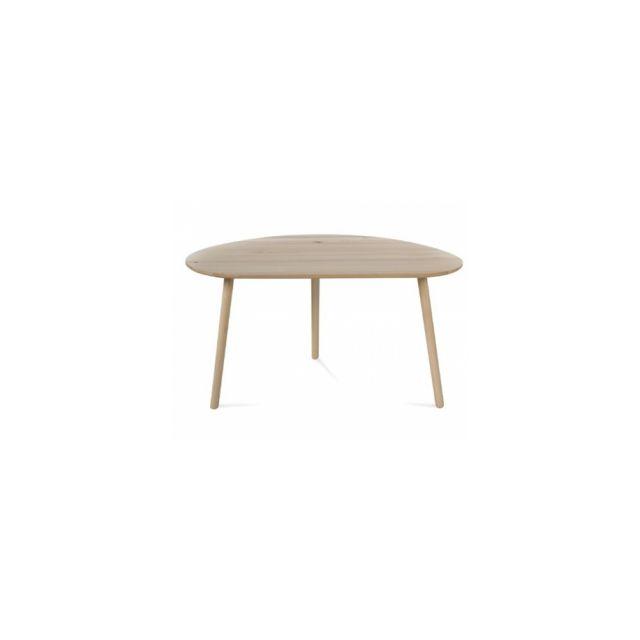 Homestyle4U Table Basse Naturelle En Bois de Pin
