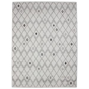 mon beau tapis tapis scandinave motifs losanges gris 133x190cm flo croyance pas cher achat. Black Bedroom Furniture Sets. Home Design Ideas