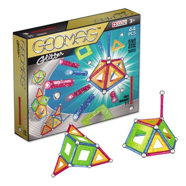 GEOMAG GLITTER - 44pcs - GM202 Coffret de Geomag Glitter - 44 pcs : Avec ce coffret,tu pourras réaliser des constructions en 2D ou 3D avec des paillettes.