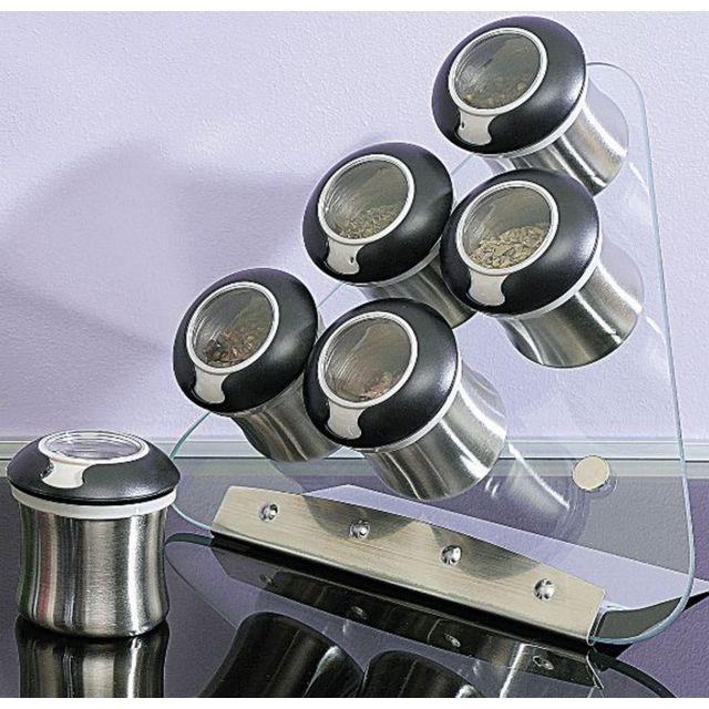 SINOGLASS set de 6 pots triangle 29cm verre - 8517000