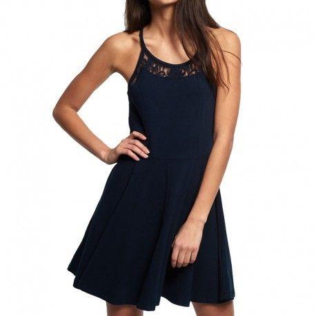 067abdfb75539 Superdry - Robe Bleu Cali Dream Cami Dress Femme - pas cher Achat ...