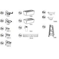Kupper - Kit complet de 30 crochets, pots, bacs et supports d'outils