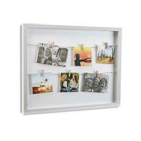 Declikdeco - Cadre à photos avec pinces blanc Hang 53 x 43 cm