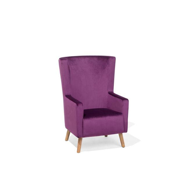 BELIANI Fauteuil bergère violet ONEIDA - violet