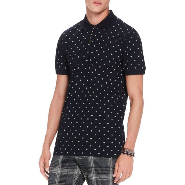 adbb36cd7436 Scotch And Soda - Polo mc garmentdyed Noir Scotch   Soda - pas cher ...