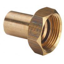 Viega - Raccord 2 pièces bronze mâle cuivre Ø 16 écrou Ø 6/20