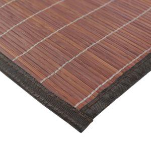 Mon beau tapis tapis bali chic 70x110cm chocolat - Tapis bambou grande taille ...