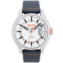 Bossorange - Montre Hugo Boss Orange en Cuir Gris