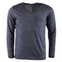b380d99b52e2e Crossby - Tee shirt Neppy marine chiné Homme - pas cher Achat ...
