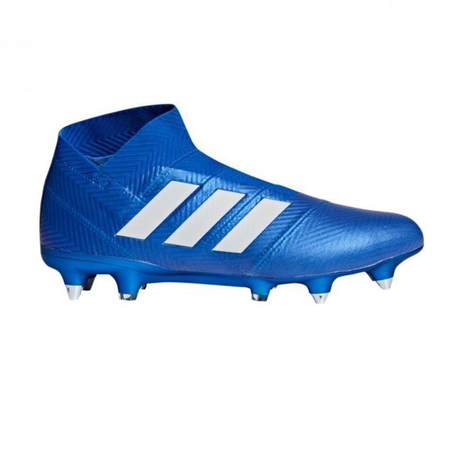 uk availability 18086 c92d3 Adidas - Nemeziz 18+ SG Football blue-White - pas cher Achat   Vente  Chaussures foot - RueDuCommerce