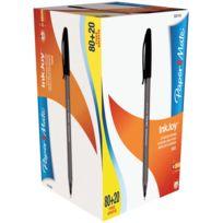Inkjoy - stylo bille papermate noir - boite de 100 dont 20 gratuits
