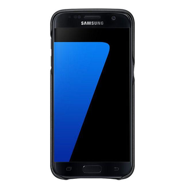 Samsung - Leather Cover Galaxy S7 - Noir - pas cher Achat   Vente ... d41878cc0cb6
