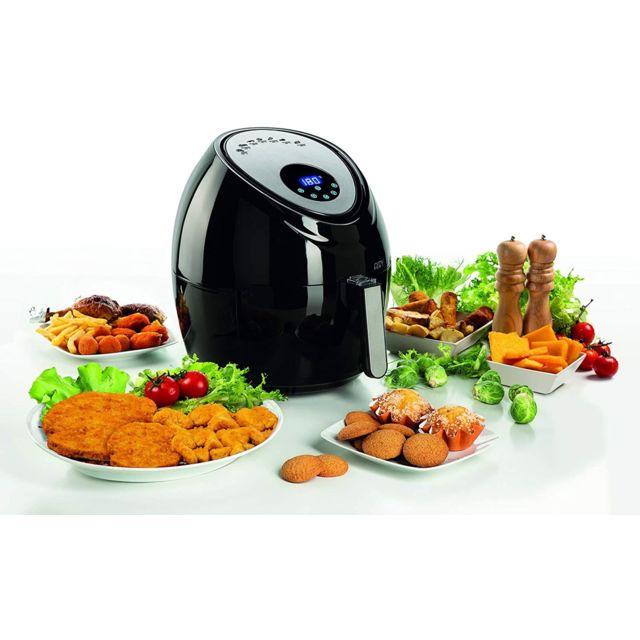 Ariete friteuse électrique sans huile de 5,5L avec 7 programmes 1800W gris noir
