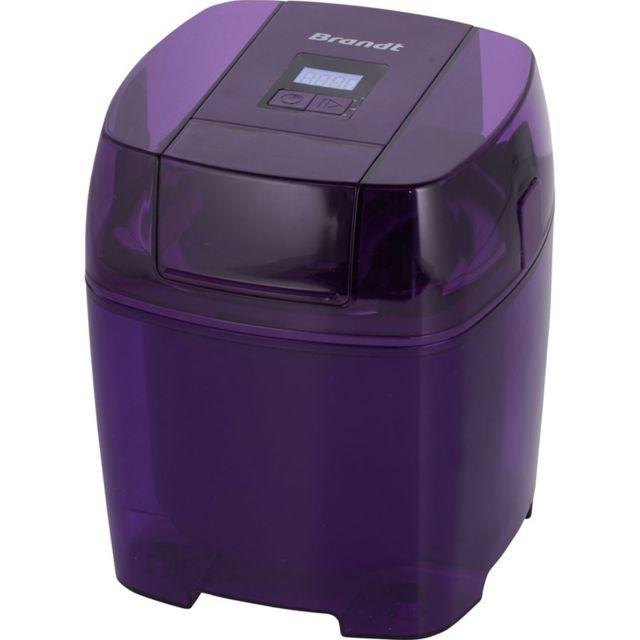 Brandt Sorbetière - SOR15EP - Violet Capacité : 1.5 L - Nombre de vitesses : 1 - Capacité de glace à l'italienne : 1.5 L - Capacité de glace traditionnelle : 1.5 L - Refroidissement du disque dans un freezer : 12h - Accessoire : Cuillère - Ecran LCD.