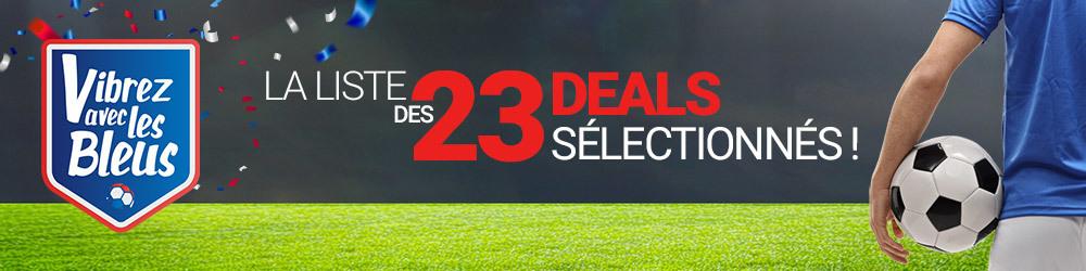 les 23 deals sélectionnés