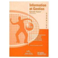 Corroy - information et gestion ; 1ère Stg ; specialité gestion ; manuel d'énoncés