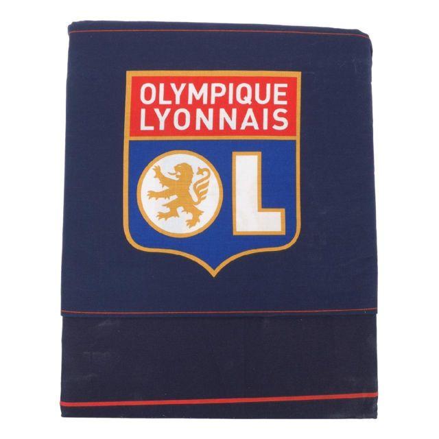 taie d oreiller olympique lyonnais Ol Boutique   Parure de lit Ol parure lit 140 200 Bleu 78538   pas  taie d oreiller olympique lyonnais