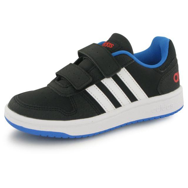 Adidas performance Hoops 2.0 Velcro noir, baskets mode