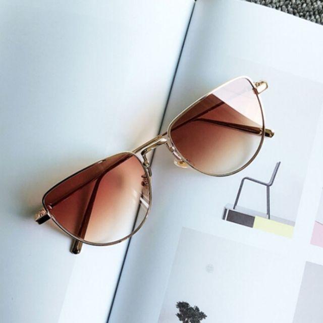 style de la mode de 2019 gamme exceptionnelle de styles et de couleurs sélectionner pour le dédouanement Lunettes de soleil rouge et brun New Style Fashion Uv400 lunettes de  polarisées personnalité réseau verres foncé clair