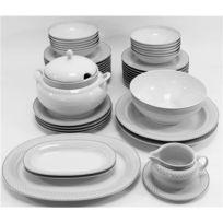 0877a334dc73a2 Générique - Service de table Vaisselle en porcelaine de Baviere pour 12  personnes 44 pieces Saber