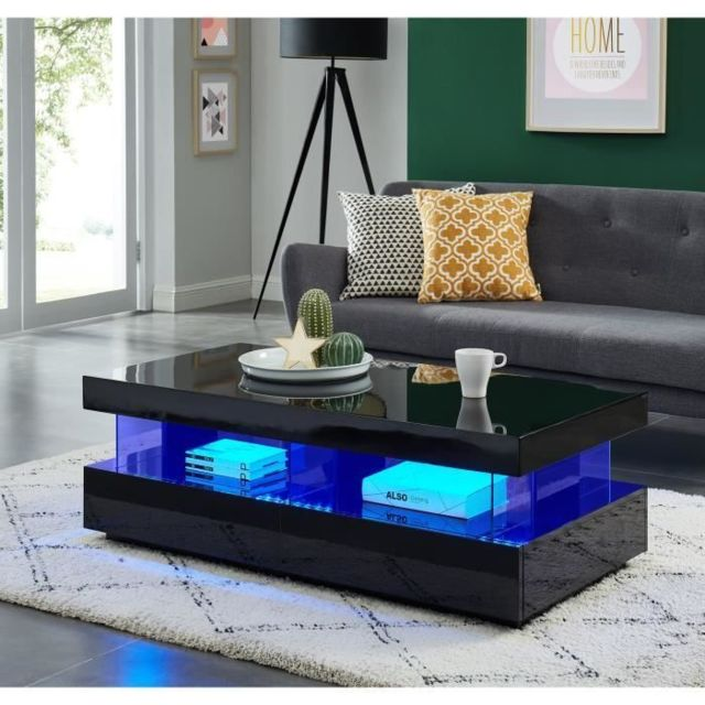 Marque Generique Icaverne Table Basse Light Table Basse Laquee
