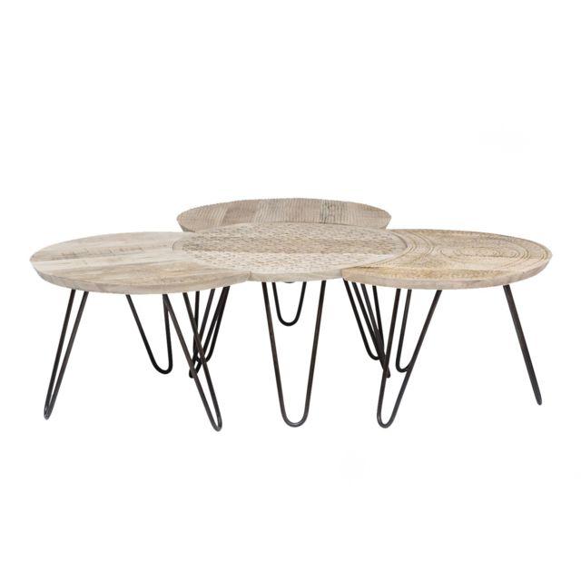 Karedesign Tables basses Puro set de 4 Kare Design