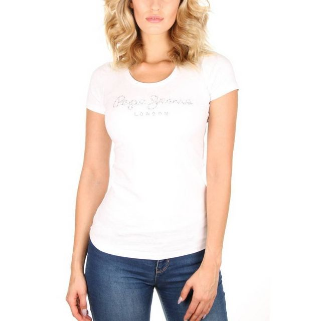 Pepe Jeans - Tshirt Puppy - pas cher Achat   Vente Polo femme -  RueDuCommerce 1ca4dd899ba4
