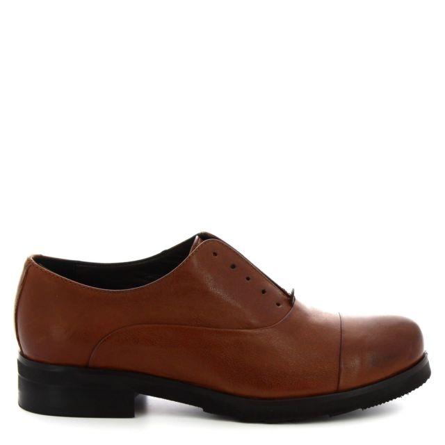 Leonardo Shoes Femme 5241 Marron Cuir Chaussures À Lacets