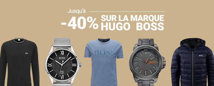 Jusqu'à -40% sur la marque Hugo Boss